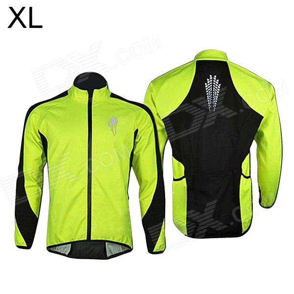 WOLFBIKE BC213 Fleeces Cycling Clothes Coat w/ Long Sleeve for Men (XL) acacia 0254905 bike cycling windproof long sleeve fleeces coat for man black size xxl