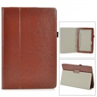 Stylish Flip-open PU Leather Case w/ Holder + Pen Space for ASUS T100 - Brown