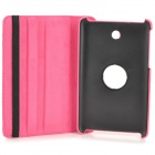 Protective PU Leather Case w/ Holder + 360' Rotating Back for ASUS 372 - Deep Pink