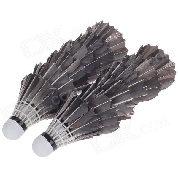 Shuangyanfeifei SYFF-105 Sport Badminton Goose Feather Shuttlecocks - Black (12 PCS)