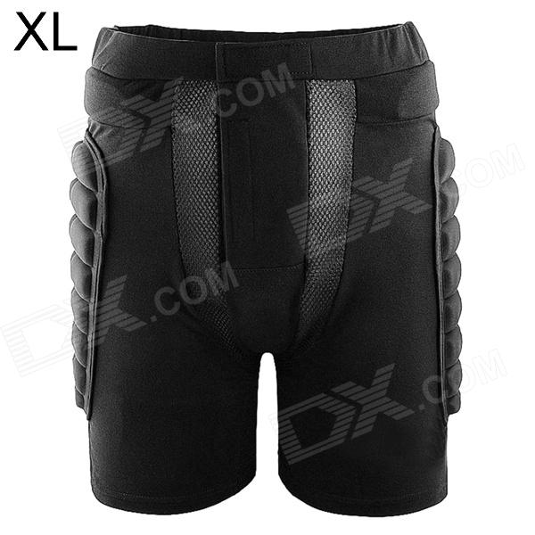 WOLFBIKE BC305 Outdoor Skiing / Skating Hip Protector Pads Pants - Black (Size XL)