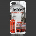 Retro London View Pattern TPU Back Case for IPHONE 5 / 5S - Multicolored