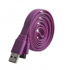 USB 2.0 Male to Micro USB 3.0 Data / Charging Flat Cable for Samsung Galaxy Note 3 N9000 - Purple