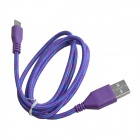 Nylon USB 2.0 Male to Micro USB Male Data Sync / Charging Cable for Samsung + More - Purple (100cm)