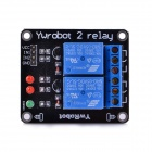 Navo 2-Channel 5V Relay Expansion Board - Black + Blue