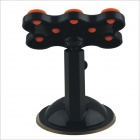 HT-821 Car / Home 360 Degree Rotation Multifunctional Phone Holder - Black + Orange