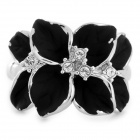 Alloys Plating Finger Ring for Women - Black + Silver