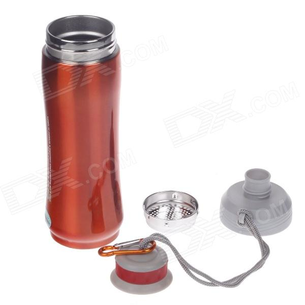 JINFENG Sport Pot Series Vacuum Thermos Belt Filter Cover / Hand Rope - Orange (500ml)
