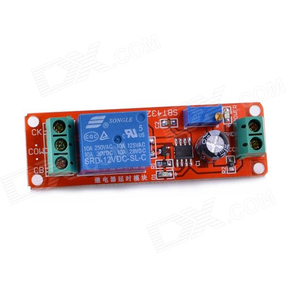 Navo NE555 Time Delay Monostable Switch Module Board - Red h3y 4 dc 12v delay timer time relay 0 5 min with base