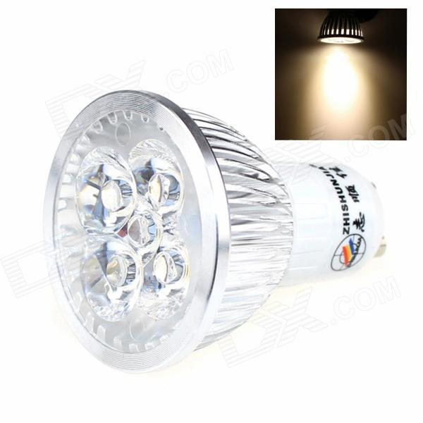 ZHISHUNJIA GU10 5W 450lm 5-LED Warm White Light Lamp Bulb (AC 85~265V) zhishunjia zsj06 5 e27 5w 400lm 3000k 18 smd 2835 led warm white light lamp white ac 85 265v