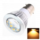 B22 6W 220lm 2500K 16 x SMD 5730 LED Blanc chaud Ampoule Energy Saving Light - Blanc (AC 220 ~ 240V)