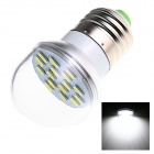 E27 6W 280lm 5500K 16 x SMD 5730 LED White Light Lamp Bulb - White (AC 220~240V)