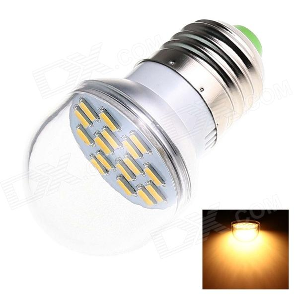 E27 6W 280lm 2500K 16 x SMD 5730 LED Warm White Light Lamp Bulb - White (AC 220~240V)