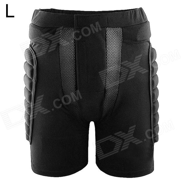 WOLFBIKE BC305 Outdoor Skiing / Skating Hip Protector Pads Pants - Black (Size L)