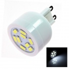 G9 4W 160lm 5500K 9 x SMD 3528 LED White Light Lamp Bulb - White (AC 220~240V)
