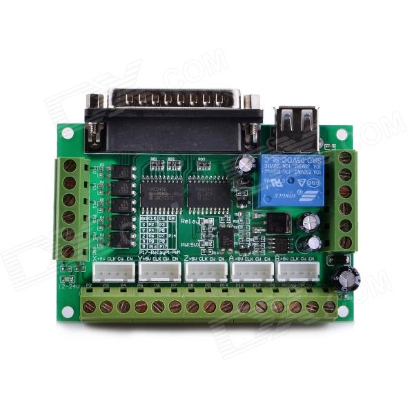 цены  Navo MACH3  5 axis CNC Stepper Motor Driver Interface Board w/ USB Cable - Green + Silver