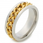 Chain Style Titanium Steel Finger Ring for Men - Golden + Silver