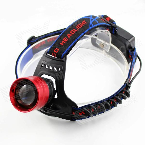 Sipids S42 LED 700lm 3-Mode White Headlight - Black Red (2 x 18650) ultrafire f88 led 700lm 4 mode white light bicycle light black 4 x 18650