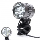 360 Degree Rotation 3200lm 3-Mode White Bicycle Headlamp - Black Grey (6 x 18650)