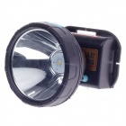 QiLiang 10W LED 200lm 2-Mode White Light Dual Li-ion Water-proof Headlight - Black