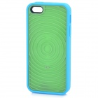 Labyrinth Style Protective TPU + PC Back Case for IPHONE 5 / 5S - Blue + Army Green