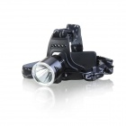 SiPiDS A3 CREE XM-L L2 900lm 3-Mode White  Headlight - Black  (2 x 18650)