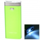 "S-What ""6800mAh"" Mobile Power Source for IPHONE / IPOD TOUCH + More - Green + Silver"