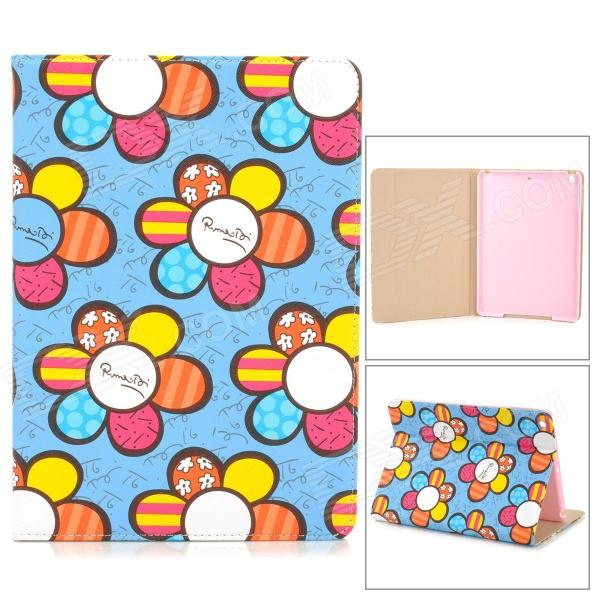 Stylish Cartoon Flower Pattern Flip-open PU Leather Case w/ + Auto Sleep + Holder for IPAD AIR умница профессии городские службы