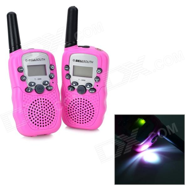 "Beier 388 1"" LCD 0.5W 6V 22-CH walkie talkie para niños -light rosa"