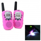 BeiEr 388 1'' LCD 0.5W 6V 22-Channel Walkie Talkie for Children - Light Pink
