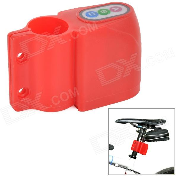 Bicycle Code Switch Anti-theft Lock - Red