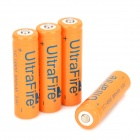 UITRAFIRE Rechargeable 14500 Li-ion 900mAh Batteries - Orange + Black (4 PCS)