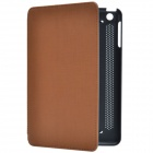 Stylish 2-Folding PU Protective Case w/ Stand for IPad MINI 2 - Black + Brown