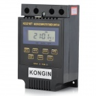 KG316T 2'' LCD Microcomputer Timer Switch - Black (AC/DC 12V)