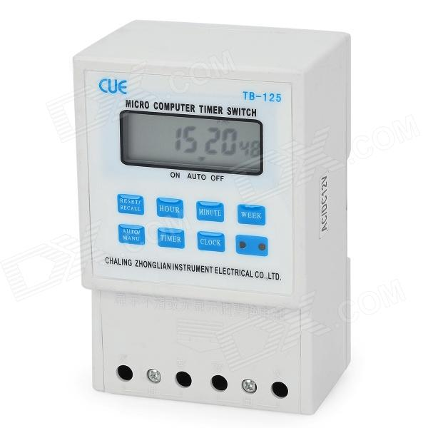 TB-125 1.9'' LCD Microcomputer Timer Switch - Black (AC/DC 12V) hzdz microcomputer temperature control switch black 5v