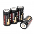 "GTL Rechargeable 3.6V ""2000mAh"" 16340 Li-ion Batteries - Black + White (4 PCS)"
