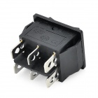 Estilo navio 6-Pin Switch - Black (5PCS / 125 ~ 250V)