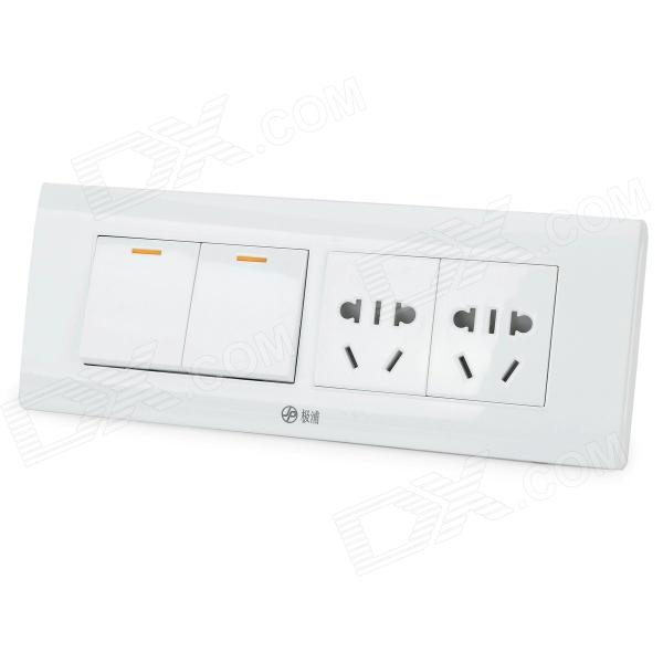 Multifonctions 4-Outlet Socket w / Switch - Blanc (250V)