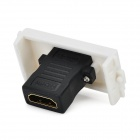 HDMI to HDMI Straight Head Panel - White