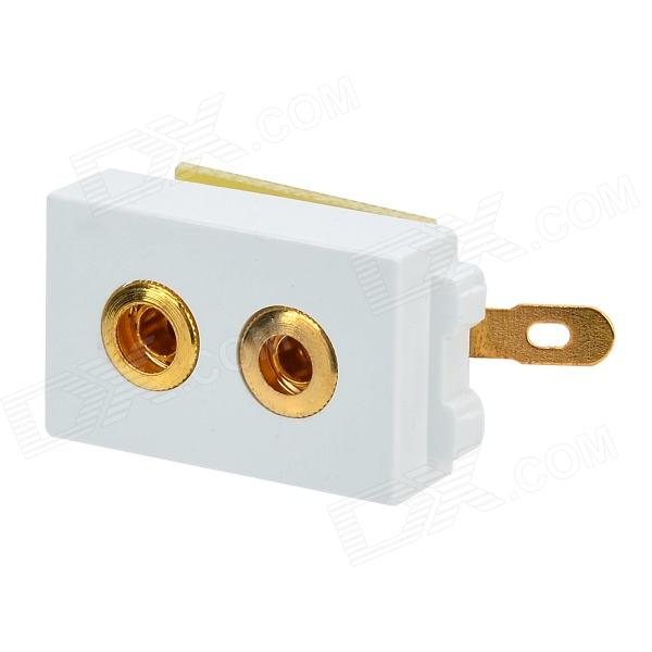 Wall Post Speaker Power Socket Module - White + Golden crystal probe oscillator test socket burn in socket for 7050 4pin crystal size 7 0x5 0mm xo crystal test socket burn in socket