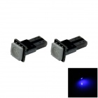 T5 / 74 0.2W 18lm 1 x 5050 LED PCB Blue Light Car Instrument / Indicator Lamp - (DC 12V / 2 PCS)