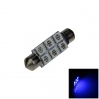 Festoon 41mm 0.5W 60lm 6 x SMD 5050 LED Blue Light Car Reading / Indicator / Roof Lamp - (12V)