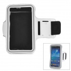 Outdoor Sports Arm Band for Samsung i9200 - White + Black