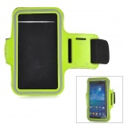 Outdoor Sports Arm Band for Samsung i9200 - Grass Green + Black