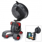 V3 Universal Suction Cup Car Mount Holder Clamp for Cellphone / GPS - Black