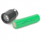 DIY 2400mAh 3.7V External Battery Charger w/ Flashlight for IPHONE + IPAD + IPOD - Black + White