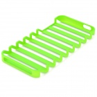 S-What Hollow Out Laddel Plastic Back Case for IPHONE 5 / 5s - Green