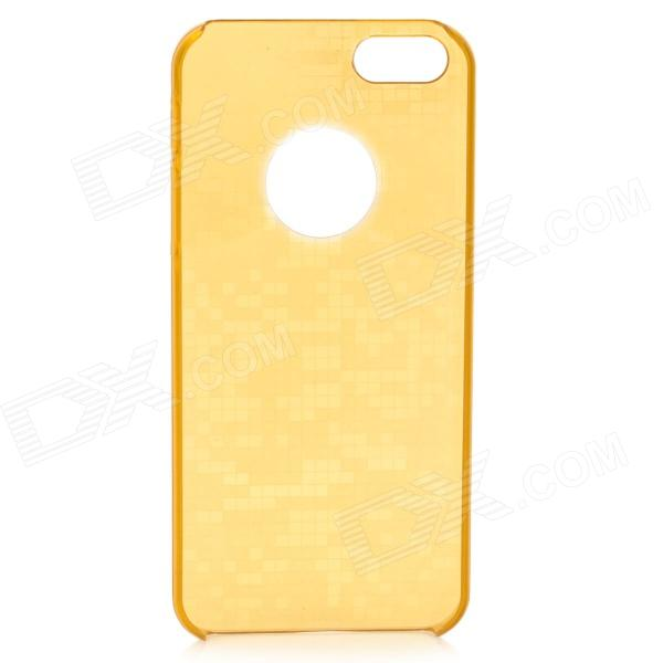 Beskyttende mosaikk stil Glow-in-the-Dark tilbake sak for IPHONE 5 / 5s - gyllen gul