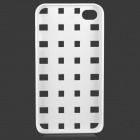S-What Creative Mesh Style Plastic Back Case for IPHONE 4 / 4S - White