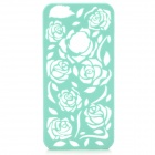 Hollowed Roses Pattern Plastic Back Case for IPHONE 5 / 5S - Green